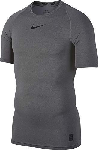 Nike Cool COMP SS - Camiseta para hombre, Negro/Gris/Blanco, M