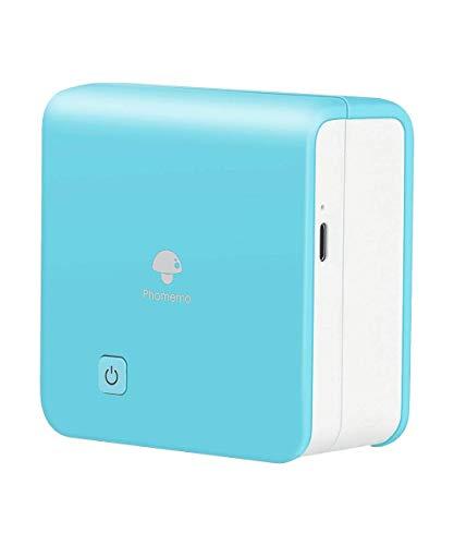 Phomemo M02Pro Mini Printer - Mini Thermal Pocket Printer Compatible with iOS & Android, 300DPI Bluetooth Portable Sticker Printer for Documents, Photo, Work List - Ice Cream Green