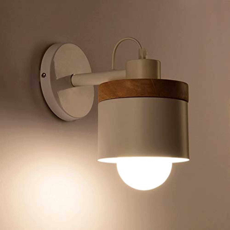 WEI Moderne Einfache Metall Holz Wandleuchte Schlafzimmer Lampe Nachttischlampe Kreative Studie Wohnzimmer Balkon Treppenleuchten