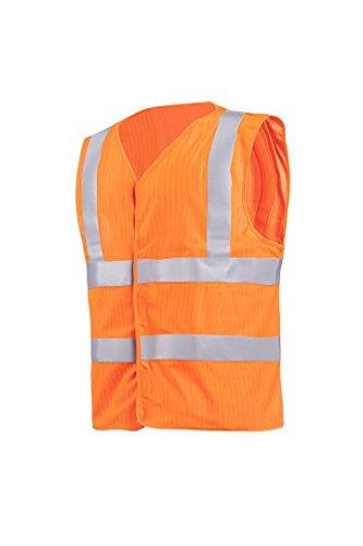 Sioen 494AA2MF0FC1X L senra Hi-Vis chaleco, ignífugo y antiestático, XL, naranja