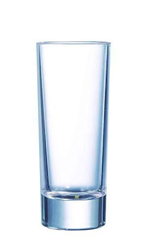 Arcoroc ARC 12365 Islande Schnapsglas, Shotglas, Stamper, 65 ml, Glas, transparent, 12 Stück