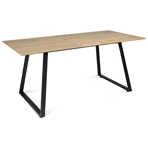 IDMarket - Table à Manger Havana Extensible 6-8 Personnes Design Industriel 150/180 cm