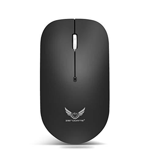 Mouse inalámbrico, Ratones inalámbrico Recargable con Nano Receptor USB, 2.4G óptico inalámbrico Quiet Haga Clic de ratón Ratones for PC portátil Mac Macbook Pro/Oficina/TEMBAC