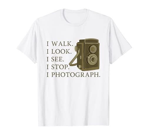 Fotografía Retro Cámara Vieja Fotógrafo Inspiración Cita Camiseta