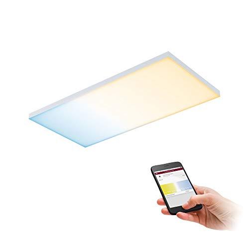 Paulmann 79827 LED Panel Velora eckig incl. 1x15,5 Watt dimmbar Deckenlampe Weiß matt Lichtpanel Metall Deckenlicht 2700 K, 15.5 W, 595x295mm ▭ 595x295mm