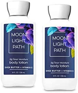 Bath and Body Works 2 Pack Moonlight Path Super Smooth Body Lotion 8 Oz