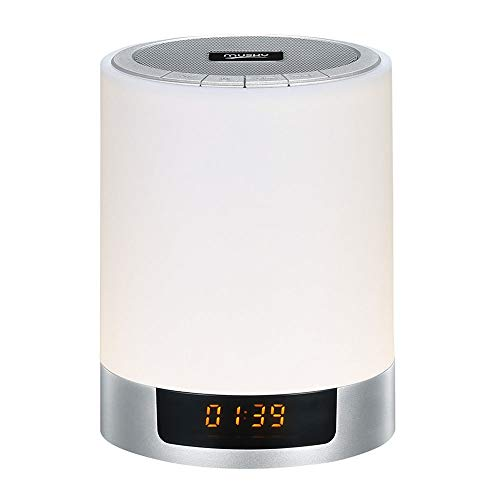 Digitale wekker, voor slaapkamer, nachtlampje, bluetooth-luidspreker, met nachtlampje, nachtlampje, voor kinderen, kleurverandering, kindernachtlampje en slaaptraining, wekker, batterij, niet getikt