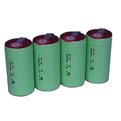 正規容量 国内から発送 22.5x43mm NI-CD Sub-C SC ニカド ニッカド ミニ単2 サブC セル エアガン 電動ガン ドライバー ドリル 工具 掃除機 充電池 バッテリー (4)
