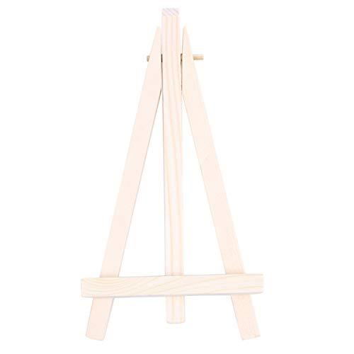 Camisin Caballete de madera para mesa de café, número de boda, lugar de nombre, titular de tarjeta de soporte: 1