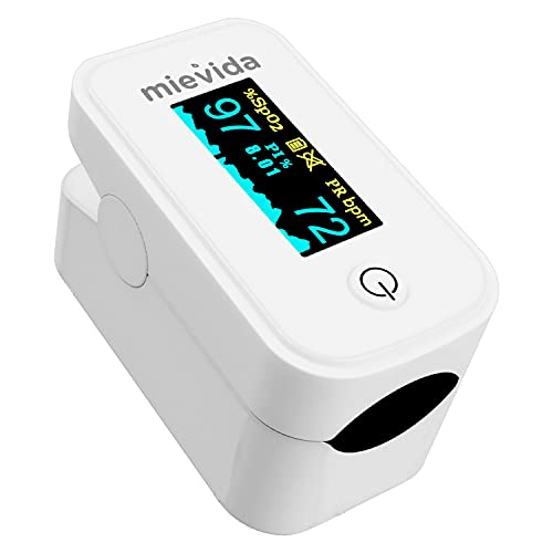 Mievida Finger Tip Pulse Oximeter (FDA & CE Approved) with OLED Display, Hi or Low Spo2, Pulse...