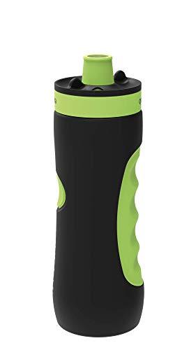 Quokka Sweat - Black Lime 680 ML | Botella de Agua Deportiva Reutilizable de LDPE sin BPA | Bidón con Cierre de Seguridad para Gimnasio, Bicicleta - Ligera y Flexible