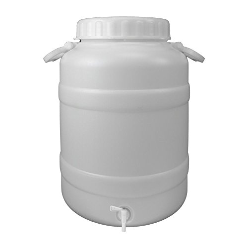 Oryx 8085540 Bidon Garrafa Plastico Alimentario Con Grifo y Boca Ancha 30 Litros