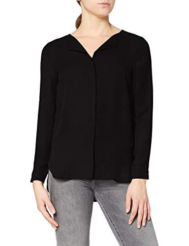 Vila Clothes Damen Vilucy L/S Shirt - Fav Bluse, Schwarz (Black Black), 40 (Herstellergröße: L)