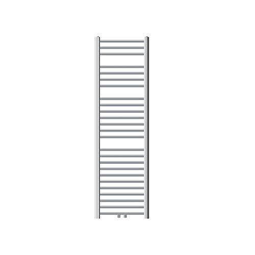 ECD Germany Badheizkörper - 400 x 1500 mm - Chrom - gerade mit Mittelanschluss - Heizkörper Handtuchwärmer Handtuchtrockner