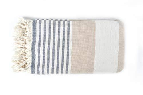 Bonamaison 100% algodón Toalla hammam Fina turca, Pesthemal, Toallas de baño, Toallas de Playa, 92 X 165 Cm - Fabricado en Turquía