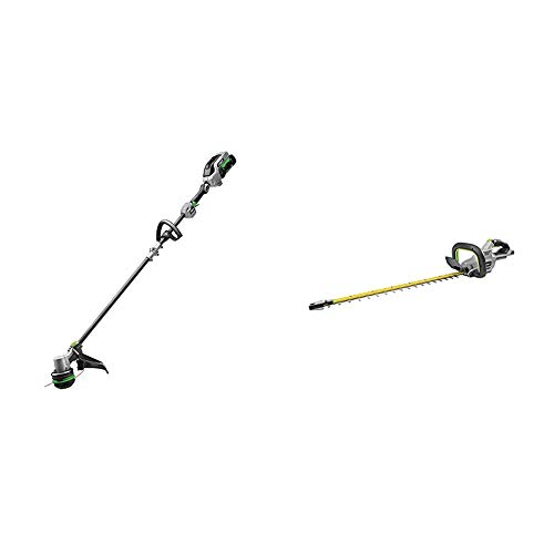 EGO Power+ ST1521S 15-Inch String Trimmer with POWERLOAD and Carbon Fiber Split Shaft & HT2400 24-Inch 56-Volt Lithium-ion Cordless Hedge Trimmer - Battery and Charger Not Included