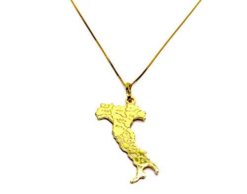 Damen-Halskette aus 18 Karat (750) Gelbgold Veneta Anhänger Italien