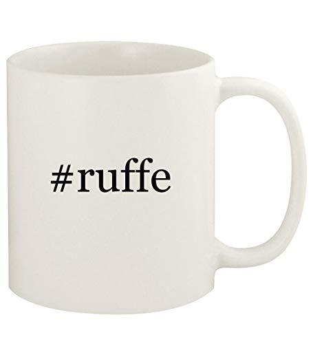 #ruffe - 11oz Hashtag Ceramic White Coffee Mug Cup, White
