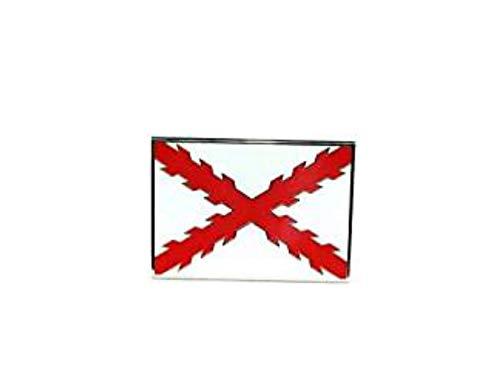 Gemelolandia Hebilla de Cinturón Aspa de Borgoña o Cruz de San Andrés | Complementos de Moda Unisex Para Hombres y Mujeres Exclusivos y Atemporales | Accesorios Para Regalos Originales