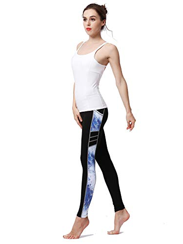 JF-yoga pants-0923 JFCUICAN Workout-Gamaschen mit hoher Taille Bauchkontrolle gebürstetem Buttery Soft (Color : Blau, Size : L-EUR)