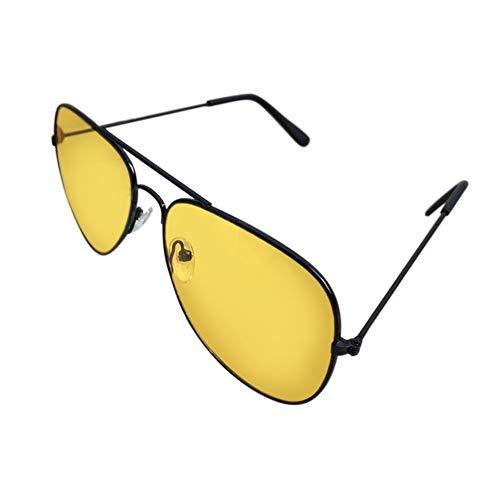 QiKun-Home Occhiali da Sole notturni Visore Notturno Occhiali da Guida Protezione antiriflesso UV400 Occhiali da Notte per Uomo Donna Neri