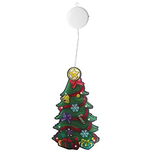 mumisuto Luces LED de Navidad, 10 Luces LED Árbol de Navidad Lámpara de decoración navideña Decorativa para Interiores 9.8x5.1x1.0in para decoración de Interiores y Exteriores para el hogar