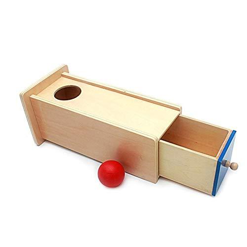 Tauzveok Jardín de Infancia temprana Educación Bola Redonda cajón del Juego Ayuda a la enseñanza Montessori Regalo los niños Juguete Madera del cajón para la Educación,Natural
