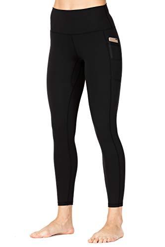 Wirezoll Leggings Damen 7/8, High Waist und Blickdichte Sport Hose mit Taschen,schwarz,38