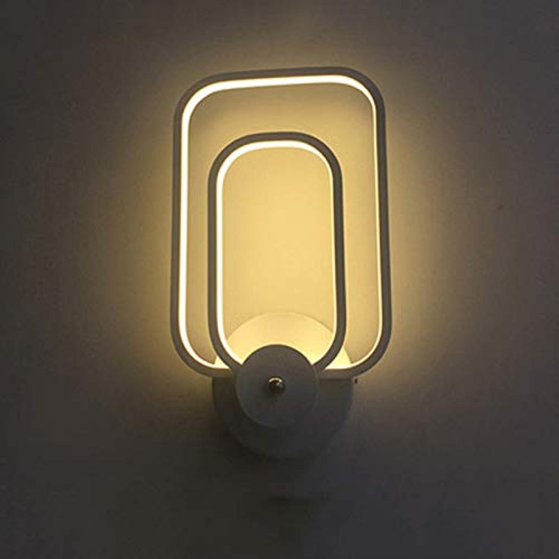 DLKKL Aluminium Wandleuchte LED Wandleuchte Schlafzimmer Wohnzimmer Nachttischlampe