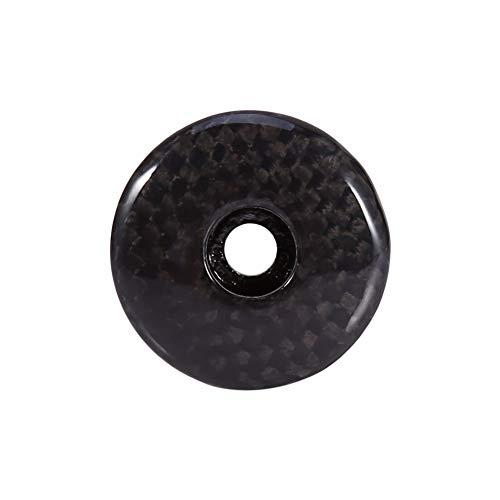 SOONHUA Fahrrad-Headset-Abdeckkappe Nachgeahmte Carbon-Headset-Abdeckkappe Fahrrad-Fahrrad-Headset-Vorbau für MTB-Fahrrad Rennrad 1 / 1/8