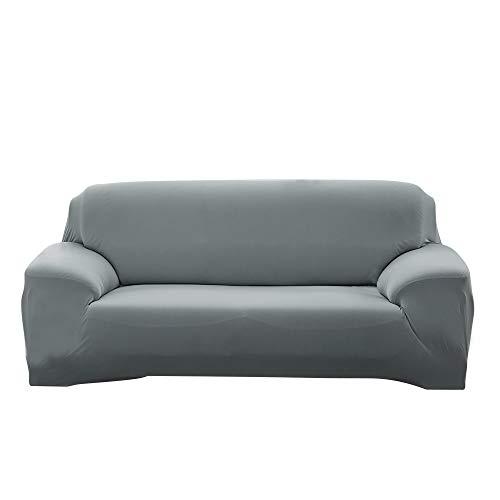 ele ELEOPTION Funda elástica para sofá en Diferentes tamaños y Colores (4 plazas para sofás de 220-300 cm de Largo, Gris Claro)