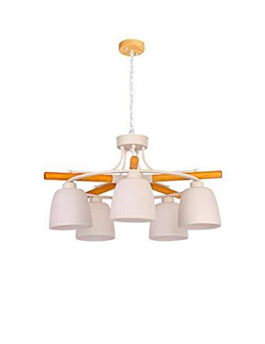 Kroonluchter meer energie besparen hout glas schaduw eenvoudige moderne woonkamer slaapkamer restaurant sprei mode-1 licht (grootte: 55 * 40 cm)