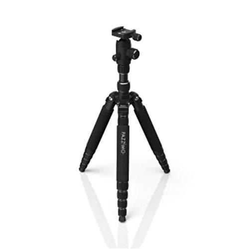 Kamera Stativ für Spiegelreflexkamera (DSLR-Tripod mit Zubehör, 1530g leicht, 3-Wege Kugelkopf, inkl. Tasche, Reisestativ, Dreibeinstativ, Fotostativ, passend für Canon Nikon Sony Kameras) schwarz