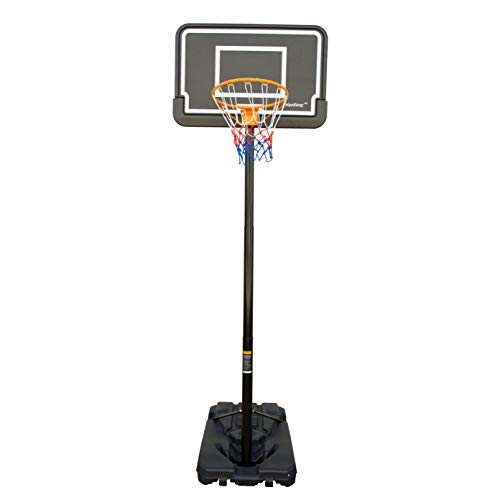 HooKung Portable Basketball Hoop Backboard Stand System Height Adjustable Up to Official 10' Free Standing Basketball Goal