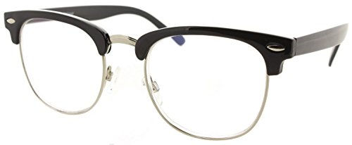 Fiore Multi Focus Progressive Reading Glasses 3 Powers in 1 [Preppy - Black, 1.50]