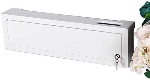 Rack de enrutador Estantes alargar -24.40 'Caja de almacenamiento del enrutador WiFi, bastidor montado en la pared, organizador de cable de cable de enchufe, for pared de fondo de TV Rack de servidore