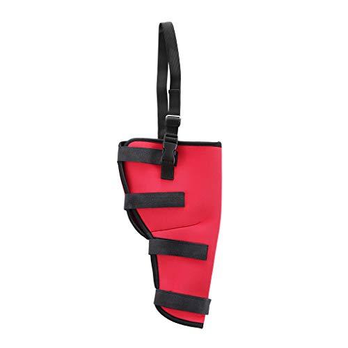 B Blesiya Hunde Handgelenk Kniebandage Beinschutz für verletzte Hinterbeine Rehabilitation - Linkes Hinterbein-Rot, S