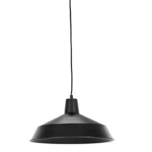 Globe Electric 65151 Barnyard Pendant, 180', Black