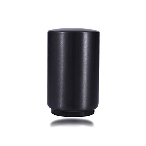 Bierflaschenöffner mit Magnetverschluss, automatischer Bierflaschenöffner aus Edelstahl, mit Magnetverschluss, Schwarz