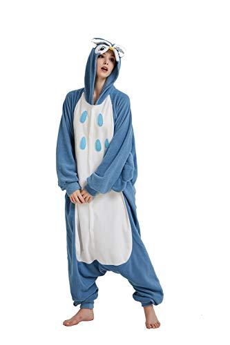 SSM Unisex Erwachsene Pyjama Jumpsuit, Plüsch Onesie Einteiler Eule Tier Kostüm, Cosplay Halloween Karneval Bär XL