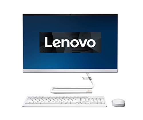 Lenovo IdeaCentre AIO 3 60,45 cm (23,8 Zoll, 1920x1080, FHD) All-in-One Desktop-PC (AMD Ryzen 5 4600U, 8GB RAM, 512GB SSD, DVD-Brenner, AMD Radeon Grafik, Win10 Home) weiß inkl. weißer Tastatur + Maus