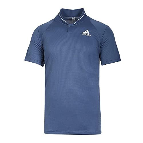 adidas Club Rib Polo Polo da Uomo, Uomo, Polo, GL5457, Blu/Bianco (Azutri/Blanco), XL