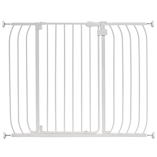 """Summer Multi-Use Extra Tall Walk-Thru Baby Gate, Metal, White Finish – 36"""" Tall, Fits Openings up to 29"""" to 48"""" Wide, Baby and Pet Gate for Doorways and Stairways"""