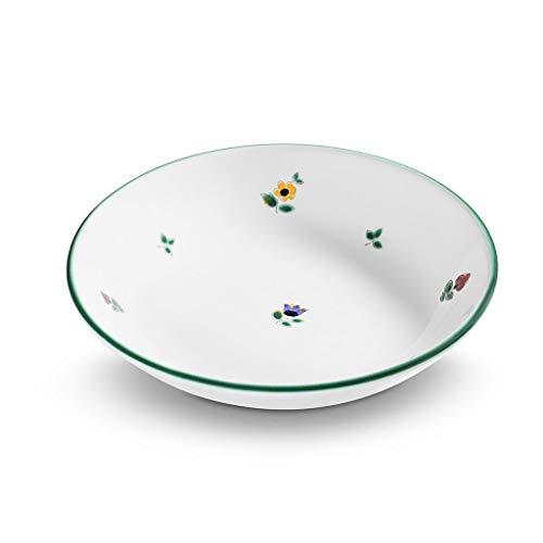 GMUNDNER KERAMIK Suppenteller Cup Durchmesser : 20 cm Streublume Geschirr, handgemacht in Österreich