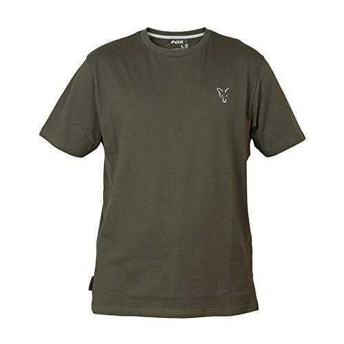 Fox Collection Green Silver T-Shirt - Shirt für Angler, Angelshirt für Karpfenangler & Wallerangler, TShirt, Anglershirt, Größe:XL