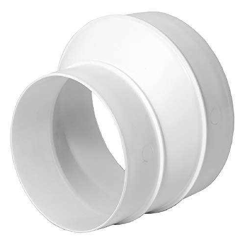 Adaptador reductor de tubo de 125 mm hasta 100 mm, para tubo de ventilación