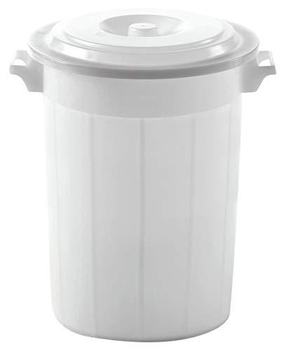 Kerbl 3210249 Futtertonne weiß mit Deckel 70ltr