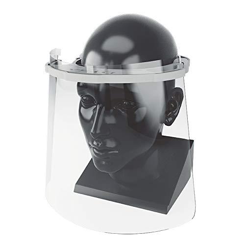 Pantalla protectora facial transparente, visera en forma de mascara para usos sanitarios gafas protectoras para evitar contaminación de los ojos a partir de salpicaduras o gotas (Industrial)