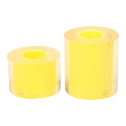Rollo de 2 piezas de cinta antiestática para relojes, 80 mm + 50 mm, cinta protectora antirrayas para joyería, sin pegamento, adsorción electrostática, para relojes, joyas, cristal, plata, oro, ilumin