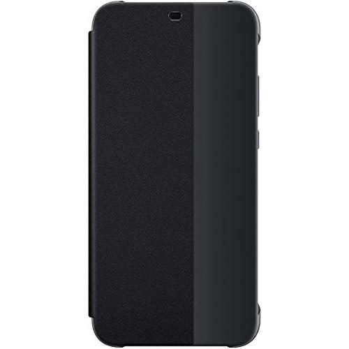Huawei P20 Lite Custodia Flip, Accessorio Originale, Nero